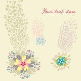 Flowers card stock illustration