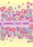Flowers card. Place for your text with flowers, spring theme stock photo