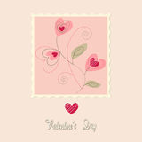 Flowers card, valentine's day Stock Photo