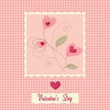 Flowers card, valentine's day Stock Photography
