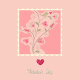 flowers card, valentine's day Royalty Free Stock Photography