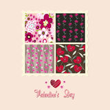 Flowers card, valentine's day Stock Images