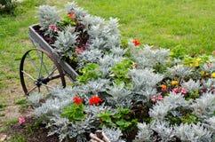 Flowers on a cart stock photos