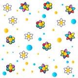 Flowers cartoon royalty free illustration