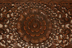 Flowers carved from wood Stock Photography