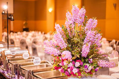 Flowers and Catering Trays Stock Photography