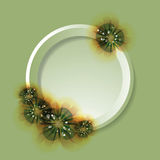 Flowers and circle. Royalty Free Stock Photography