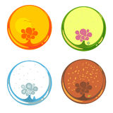 Flowers in circles Royalty Free Stock Photos