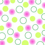 Flowers and circles Royalty Free Stock Photo