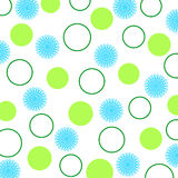 Flowers and circles. On white background Royalty Free Stock Photography