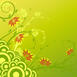 Flowers with circles Stock Images