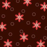 Flowers and circles illustration stock photography