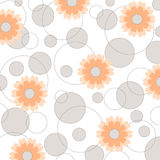 Flowers and circles - VECTOR Royalty Free Stock Photo