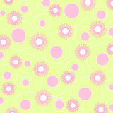 Flowers and circles - VECTOR Stock Photography