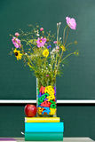Flowers in a classroom Stock Image