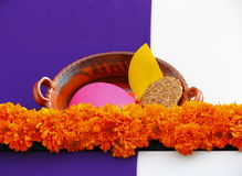 Flowers and clay pot I Stock Images