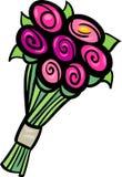 Flowers clip art cartoon illustration Stock Image