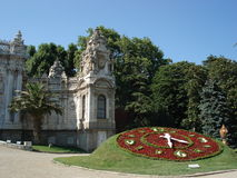 Flowers clock in Dolmabahce palace, Istanbul Royalty Free Stock Images