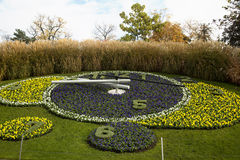 Flowers clock in a park Royalty Free Stock Images