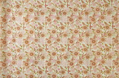 Flowers on cloth fabric Royalty Free Stock Photo