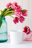 Flowers and coffee Stock Photography