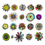 Flowers collection, sketch for your design Royalty Free Stock Photo