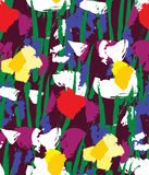 Flowers color seamless pattern wallpaper. Royalty Free Stock Images