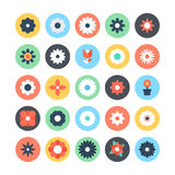 Flowers Colored Vector Icons 2 Stock Image