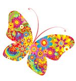 Flowers colorful butterfly Royalty Free Stock Image