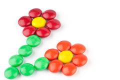 Flowers of colorful candy Royalty Free Stock Photos