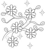 Flowers coloring page Stock Images