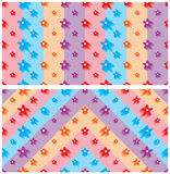 Flowers colors background banner frame seamless pattern Royalty Free Stock Image
