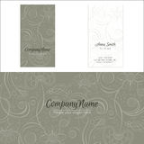 Flowers company logo corporate business card. Print template Royalty Free Stock Photos