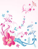 Flowers  composition. Abstract flowers  composition illustration over white background Stock Photo