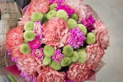 Flowers congratulation Royalty Free Stock Image