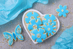 Flowers cookies Royalty Free Stock Photos
