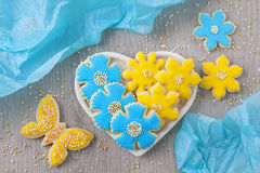 Flowers cookies Stock Images