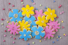 Flowers cookies Stock Image