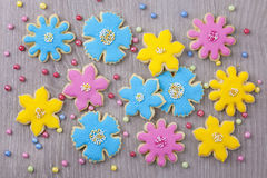 Flowers cookies Royalty Free Stock Photography