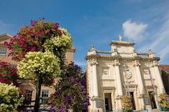 Flowers and corn exchange Royalty Free Stock Photography