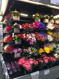 Flowers in Costco royalty free stock photos