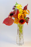 Flowers in Crystal Vase Stock Image