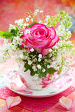 Flowers in a cup Royalty Free Stock Images