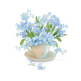 Flowers in the Cup Royalty Free Stock Photography