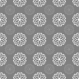 Flowers and curls. Seamless pattern. Simple repetitive pattern. Stock Images