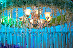 Flowers curtain,Stage decoration,Stage decoration Stock Images