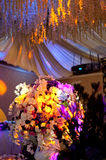 Flowers curtain,Stage decoration,Stage decoration Royalty Free Stock Photos
