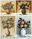 Flowers, dahlias, set Stock Photography