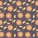 Flowers on a Dark Background. Seamless texture Royalty Free Stock Photos