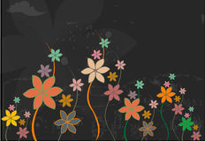 Flowers in dark backround Royalty Free Stock Image
